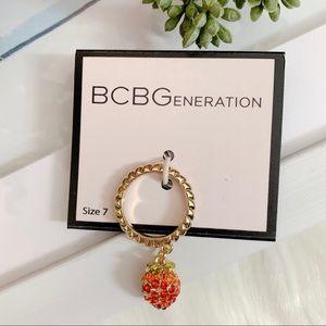 BCBGeneration Crystal Strawberry Ring